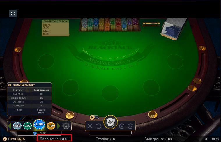 демо-счет в казино 1win